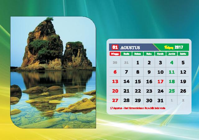 Kalender Bulan Agustus 2017