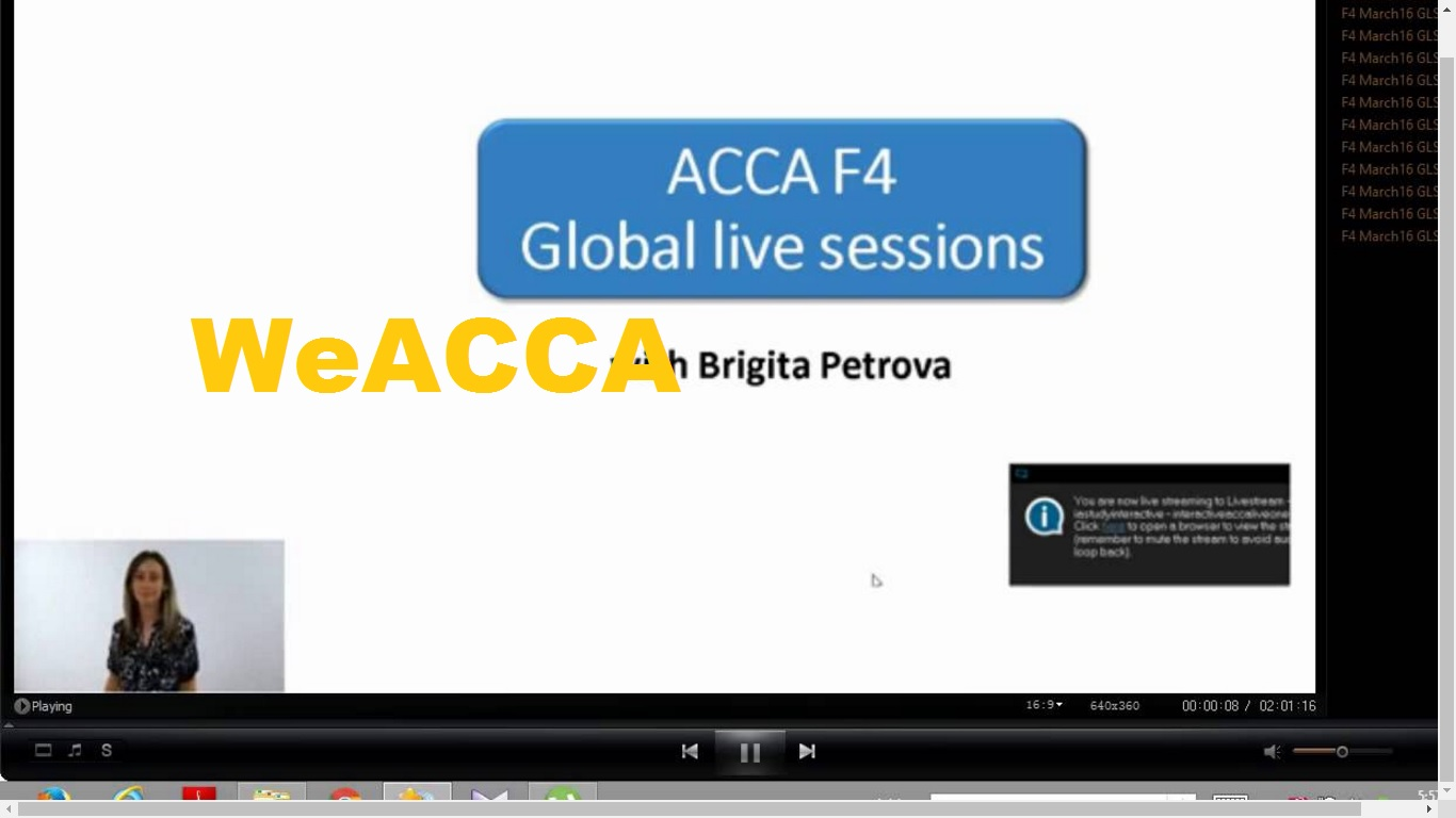 Which is the best combination of ACCA Papers?