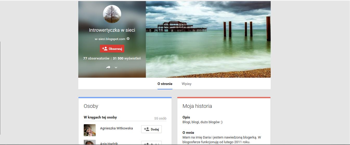 Moja strona na Google Plus