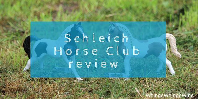 Schleich Horse Club Pintabian mare, stallion and foal care kit review