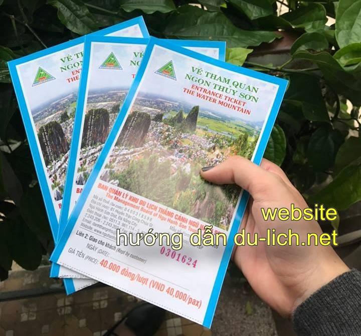 Vé tham quan ngọn Thủy Sơn