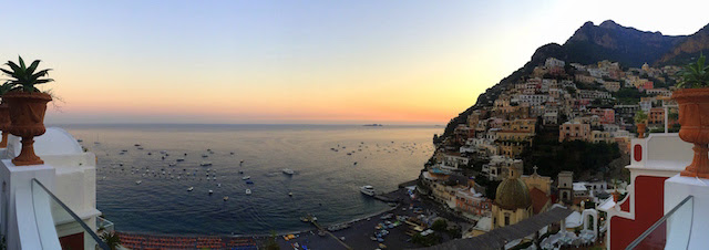 Positano panorama from Franco's bar