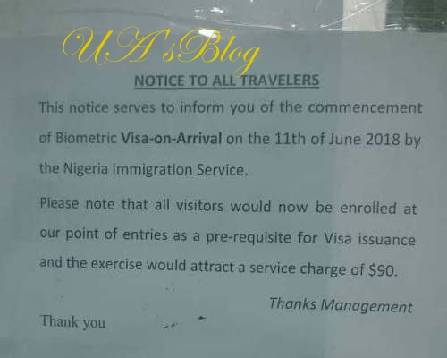 Confusion At Lagos Airport As Immigration Imposes $90 Visa-On-Arrival Charge On Foreigners