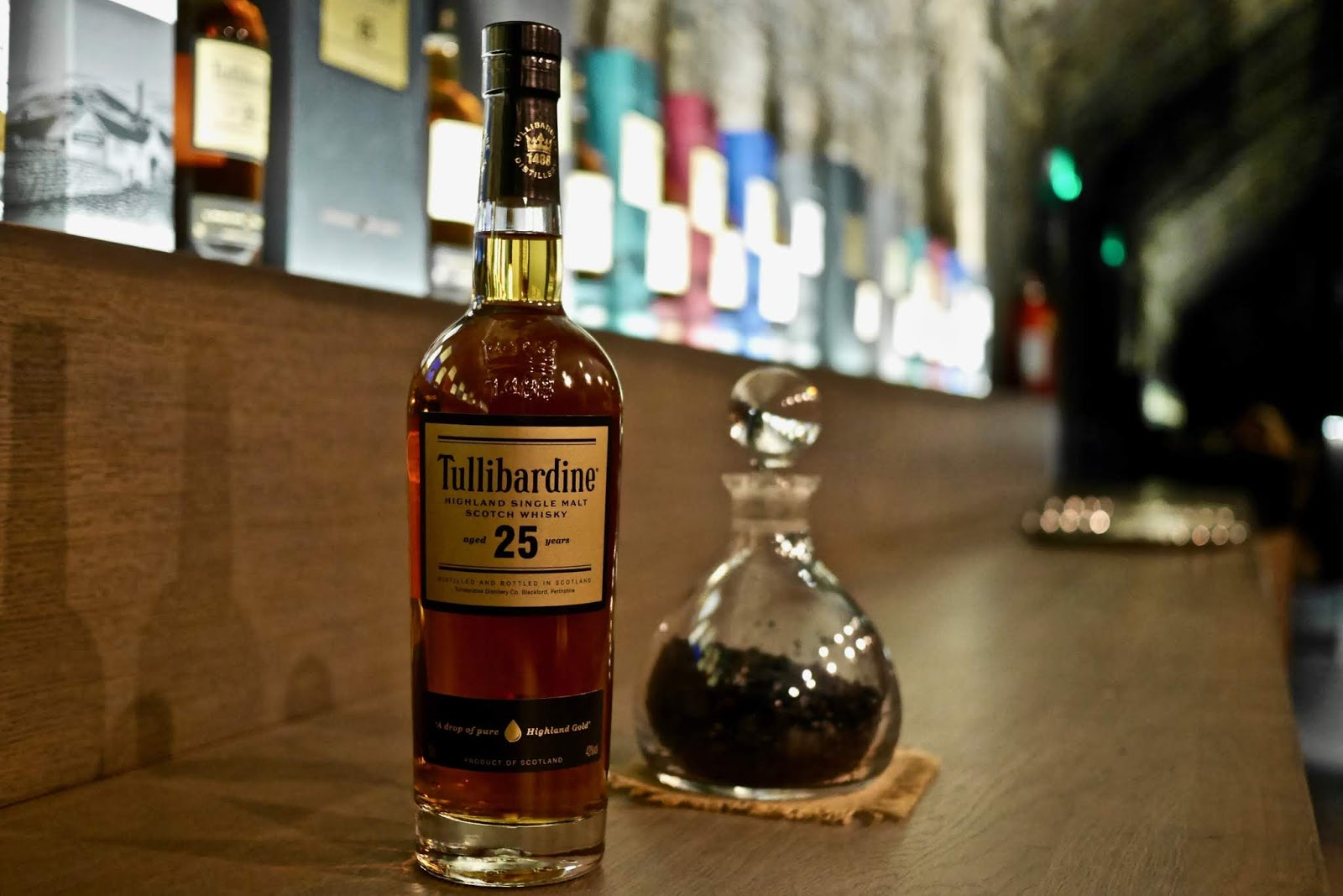 25 year old Tullibardine Whisky rare whisky