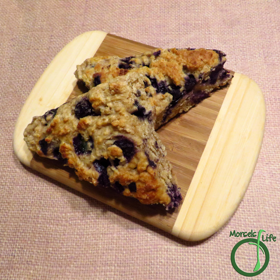 Morsels of Life - Blueberry Scones - Part of a scrumptious breakfast - try these blueberry scones, full of the goodness of sweet summer blueberries.