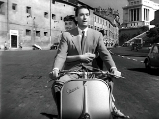 Gregory Peck and Audrey Hepburn rode around Rome on  a Vespa motor scooter in the 1953 film, Roman Holiday