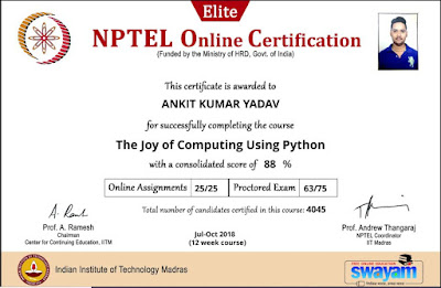 Nptel Exam pattern Certificate Over View