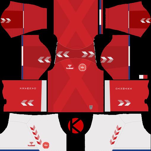 best service ec84f eb95a Denmark 2018 World Cup Kit - Dream League Soccer Kits ...