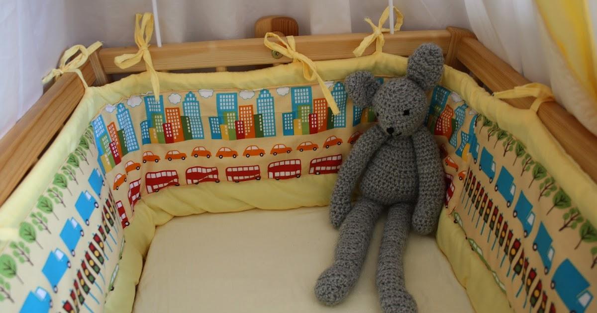 recyceln wir machen wir selbst nest f rs babybett versch nert. Black Bedroom Furniture Sets. Home Design Ideas