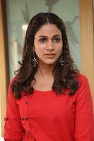 Actress Lavanya Tripathi Latest Pos in Red Dress at Radha Movie Success Meet .COM 0148.JPG