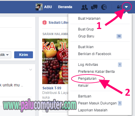 cara merubah nama facebook