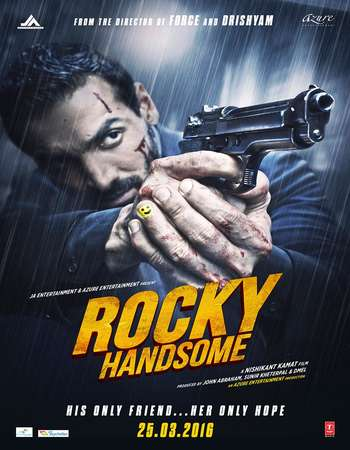 Poster Of Rocky Handsome 2016 Hindi 400MB HDRip 720p HEVC Watch Online Free Download Worldfree4u