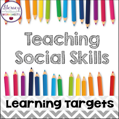 Even though I teach reading, I always incorporate a social skill learning target into our lesson. Learn more right here.