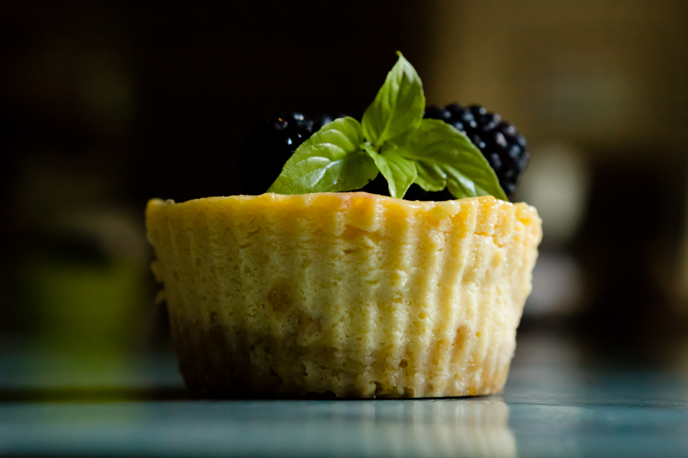 Lemon Ice Box Pie Cupcakes with Lavender Benne Seed