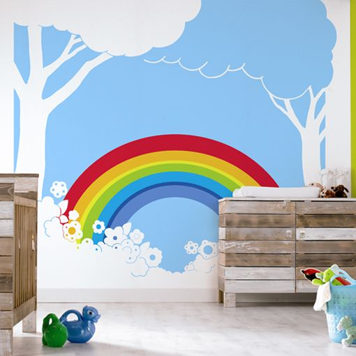 Rainbow Wall Mural Kids Room