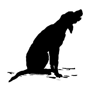 dog silhouette antique image illustration download