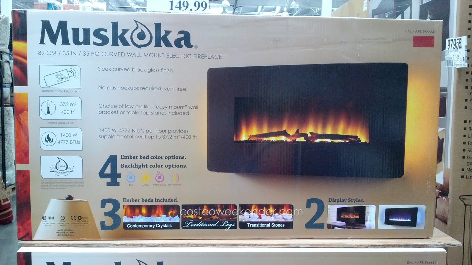 Curved Electric Fireplace Greenway Home Products Muskoka Curved Wall Mount Electric