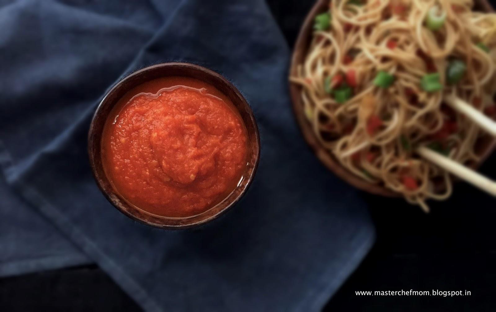 MASTERCHEFMOMSchezwan Sauce |How to make Schezwan Sauce at home