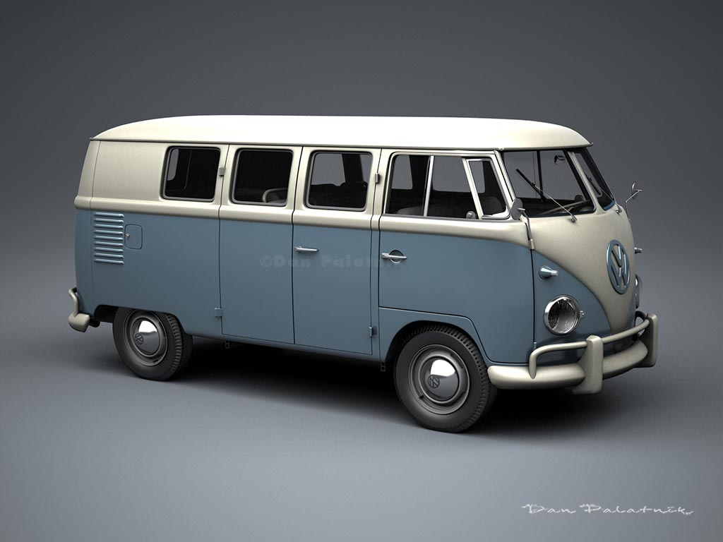 Vw Bus 2015 >> A Garagem Digital de Dan Palatnik | The Digital Garage Project: 1957 VW Kombi Bus & 1956 Panel Van