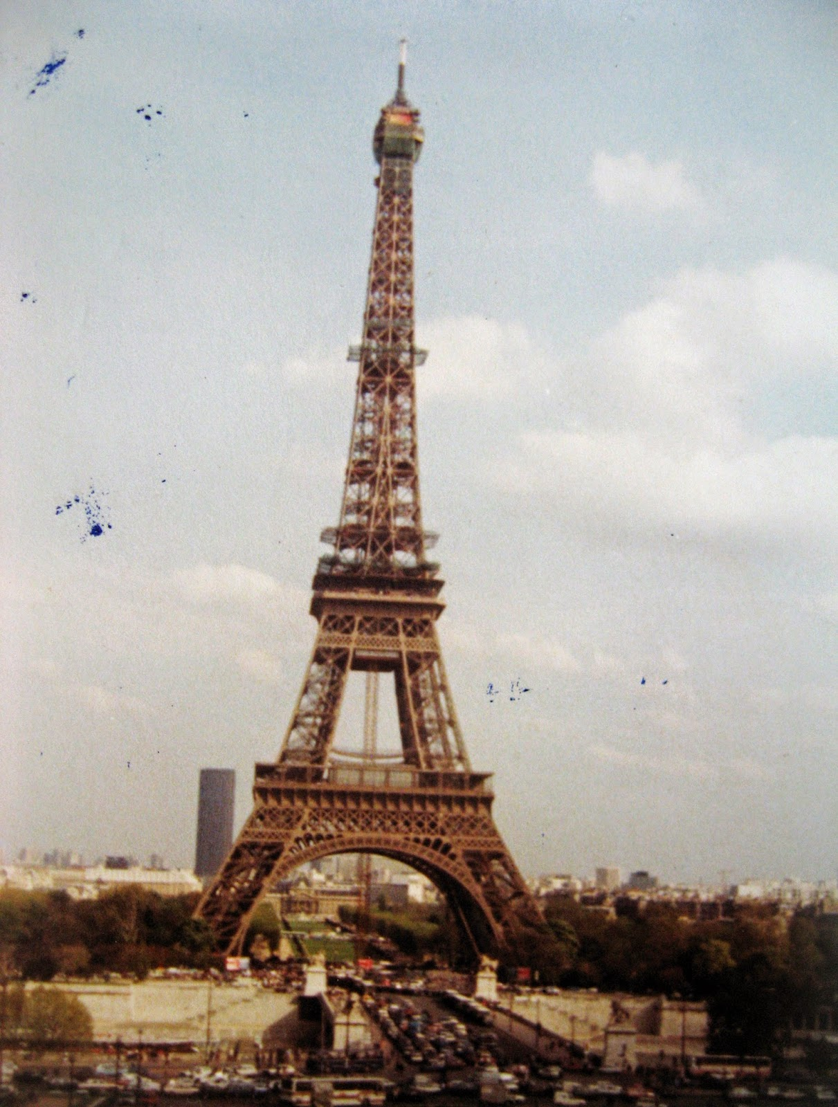 Tommy Mondello & Billy Scire at the Eiffel Tower Paris, France 1983