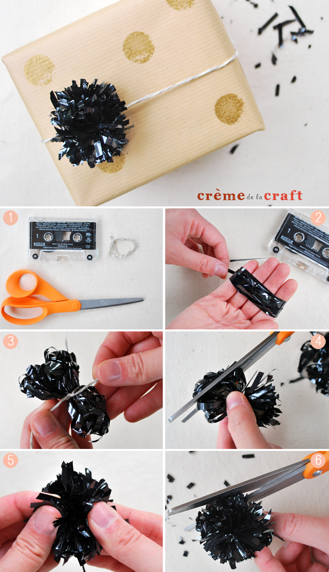 Diy Pom Pom Party From Vhs Cassette Tapes Video Tutorial