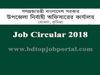 Upazila Nirbahi Officer, Comilla Job Circular 2018