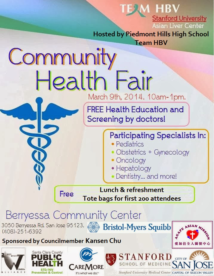 Mr  Amutan's HW and Info Blog: FREE Health Fair @ Piedmont Hills HS