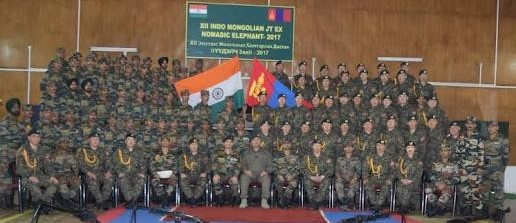 Nomadic Elephant 2018 - 13th India, Mongolia joint exercise held in Ulaanbaatar, Mongolia