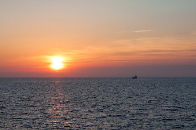 Tramonto a bordo di Costa Riviera