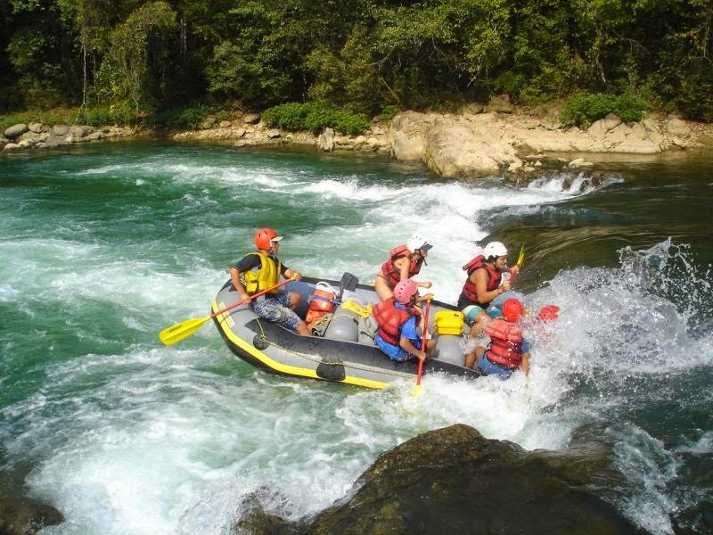 White Water-Rafting in Rio Cahabon, Guatemala