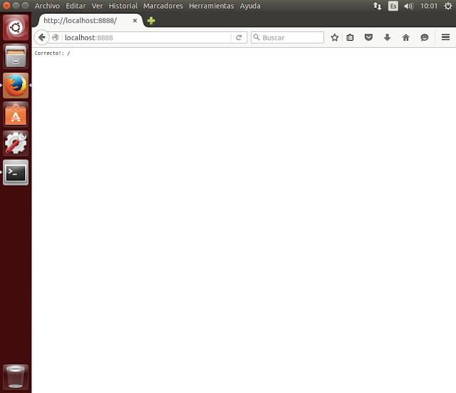 navegador servidor nodejs ok