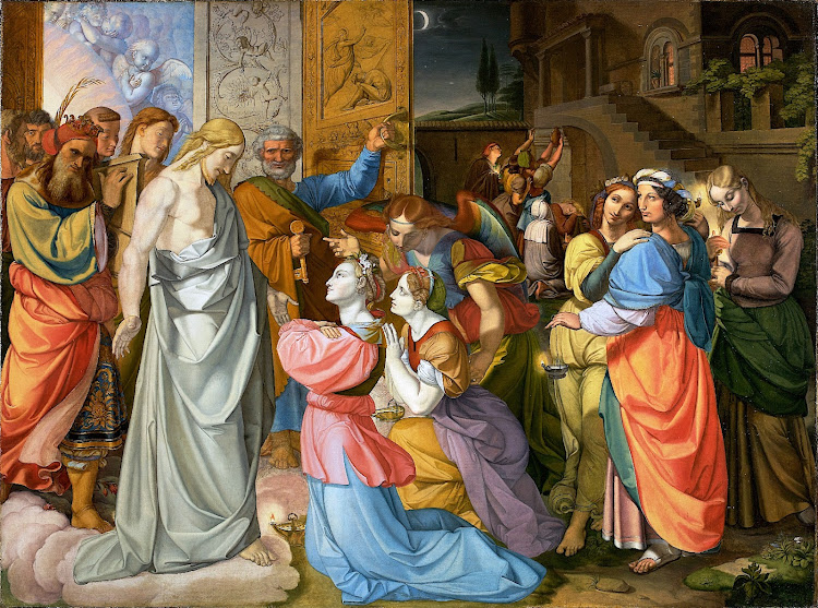 Peter von Cornelius - The Wise and Foolish Virgins 1813