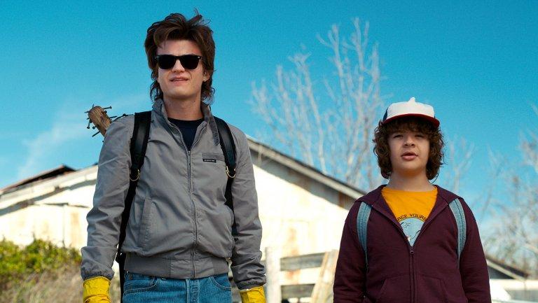 Steve y Dustin en la segunda temporada de Stranger Things