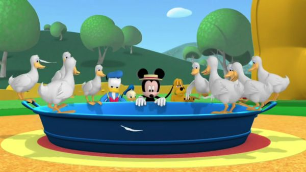 The ducks can swim in your big washtub!