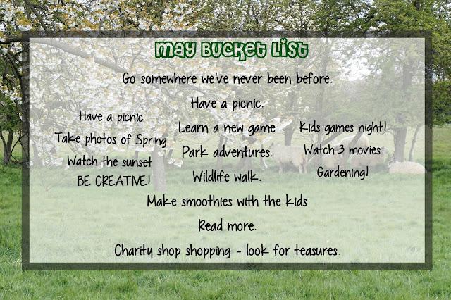 May bucket list