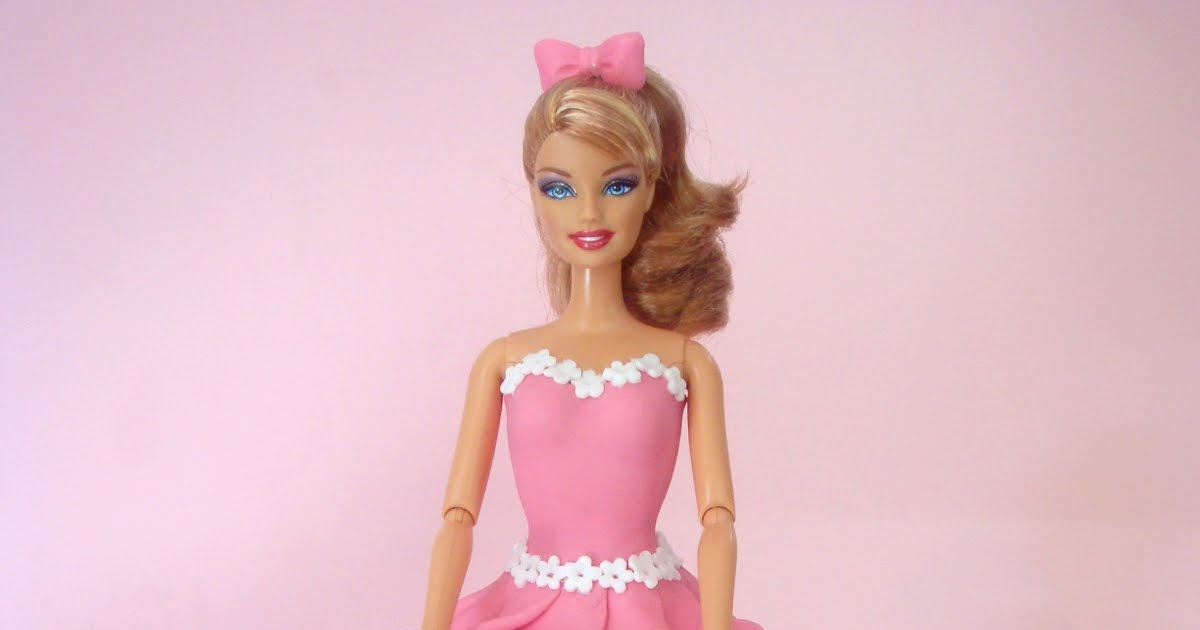 Butter Hearts Sugar Barbie Doll Cake