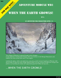WB1: When the Earth Growls