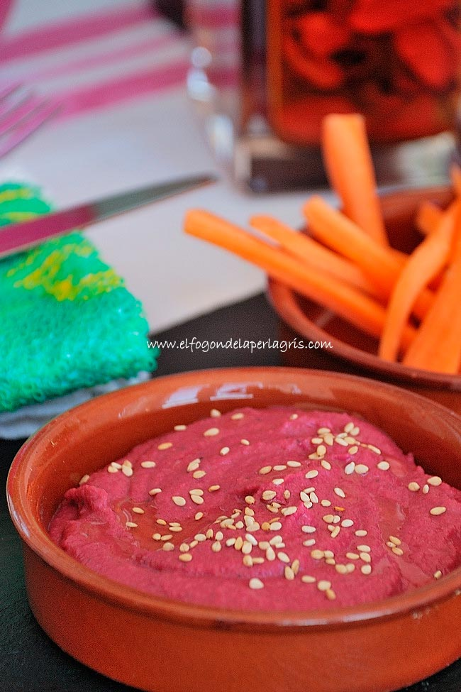 Hummus remolacha casero