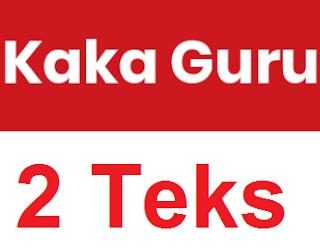 Soal Ujian Nasional Bahasa Indonesia tentang perbedaan dua teks