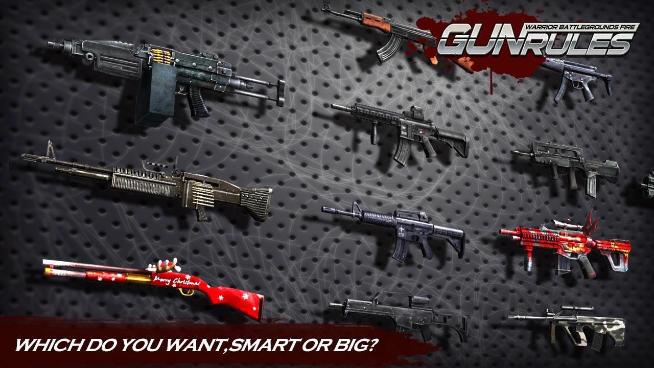 Gun Rules Warrior Battlegrounds Fire MOD APK terbaru