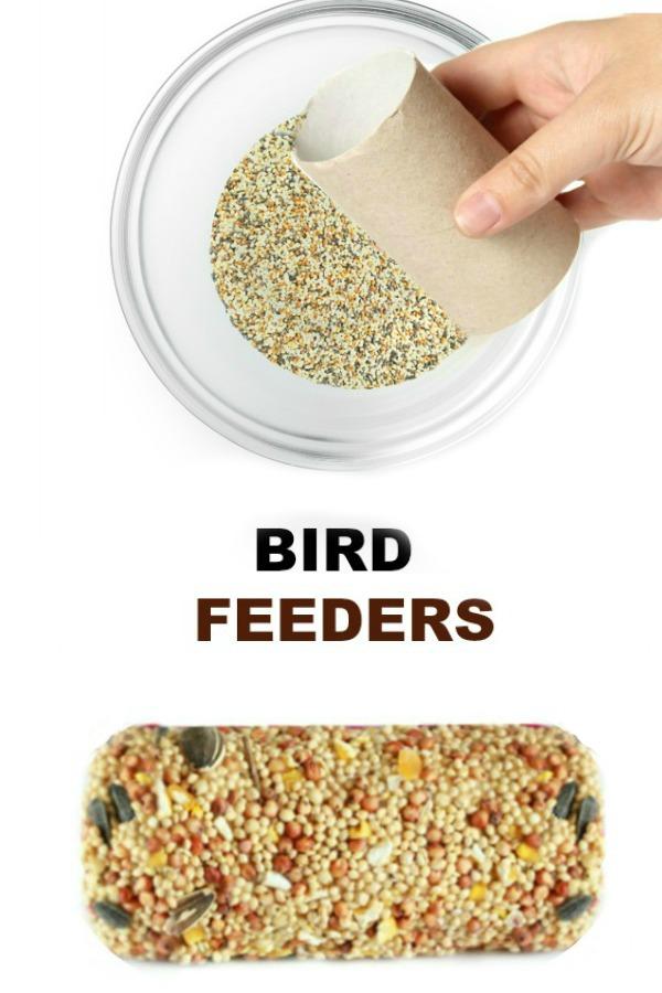 BIRD FEEDER CRAFT FOR KIDS #birdfeeders #birds #birdfeederskidscanmake #birdfeedersdiy #birdfeedershomemade #springcraftsforkids