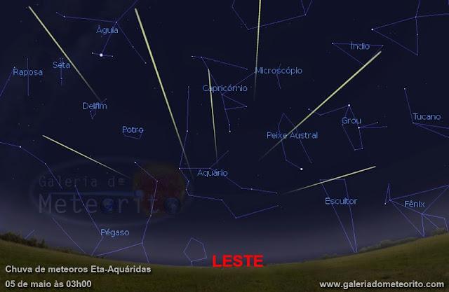 como observar a chuva de meteoros Eta Aquaridas