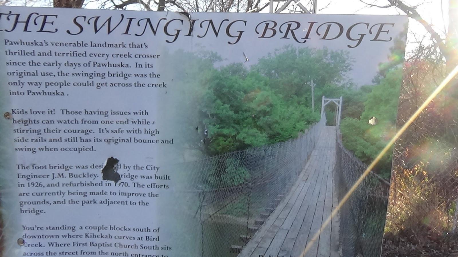 Oklahoma swinging bridge