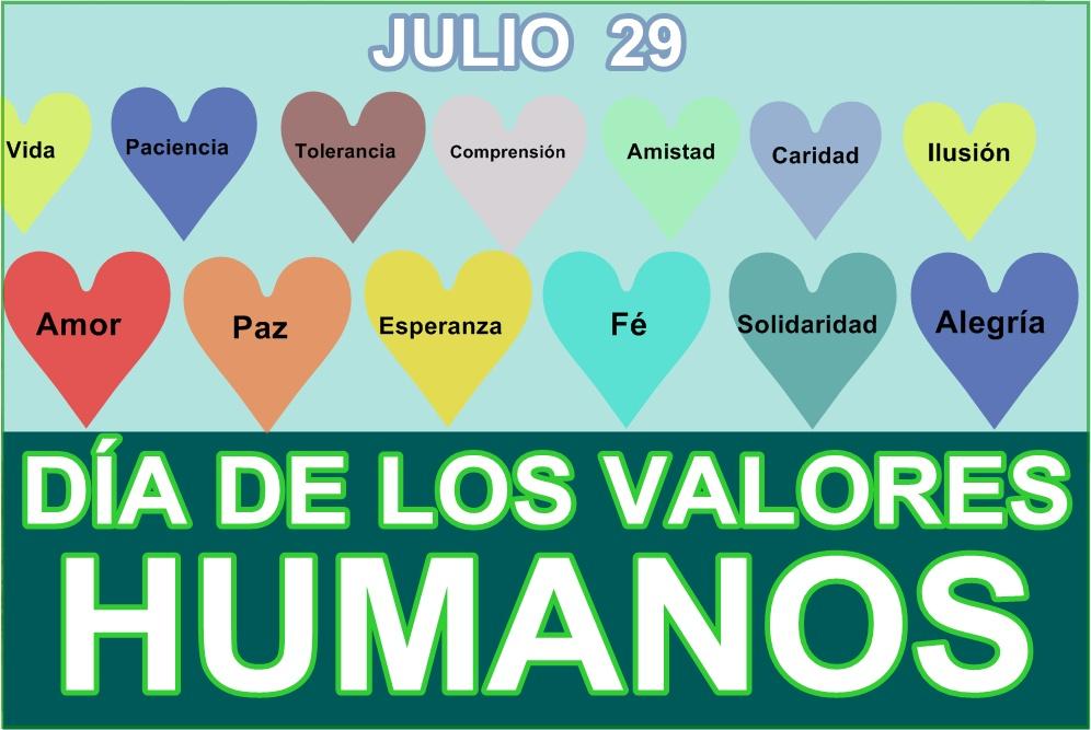 Valores Humanos: TODO TIEMPO / TIEMPO ACTUAL: DIA INTERNACIONAL DE LOS