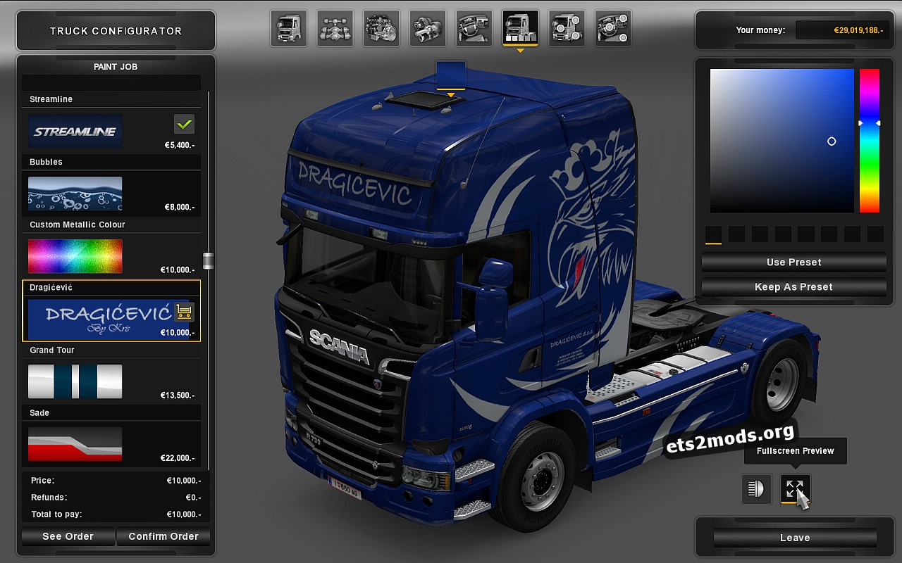 Dragicevic Skin for Scania Streamline