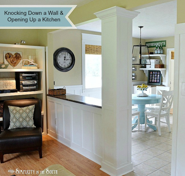 Opening Kitchen To Dining Room: Suburbs Mama: Sunday Linky #24