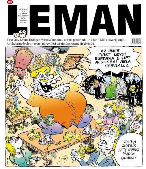 Leman Dergisi - 13 Temmuz 2016 Kapak Karikatürü