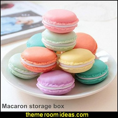 Mini Macaron Shape Storage Box Candy Jewelry Organizer Pill Case Container