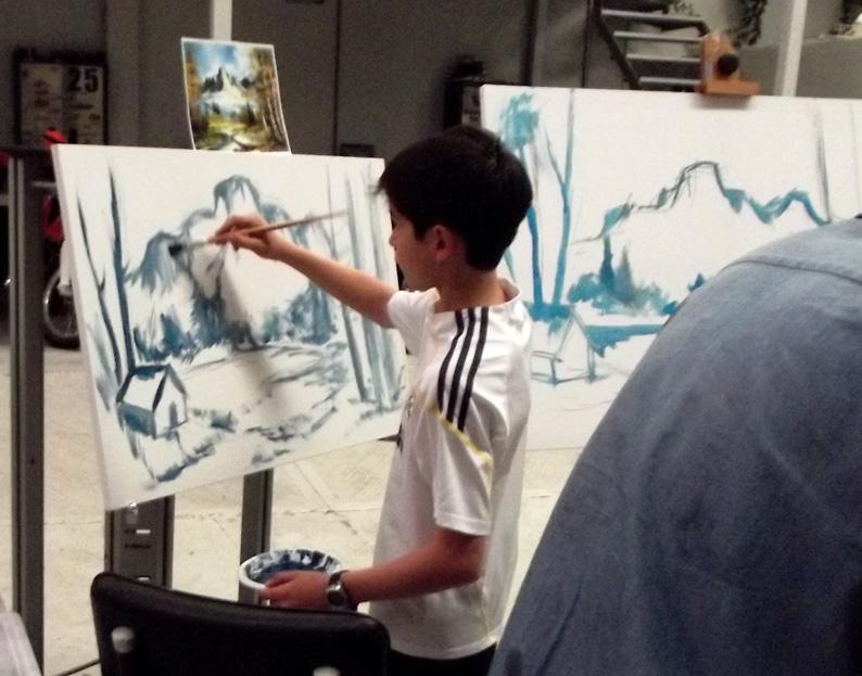 El taller de miguel angel aprende a pintar un paisaje al leo - Como pintar al oleo paso a paso ...