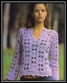 ajurnii pulover kryuchkom